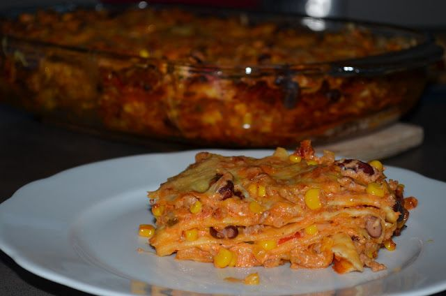 Kuche Guten Appetit: Mexikanische Enchilada-Lasagne
