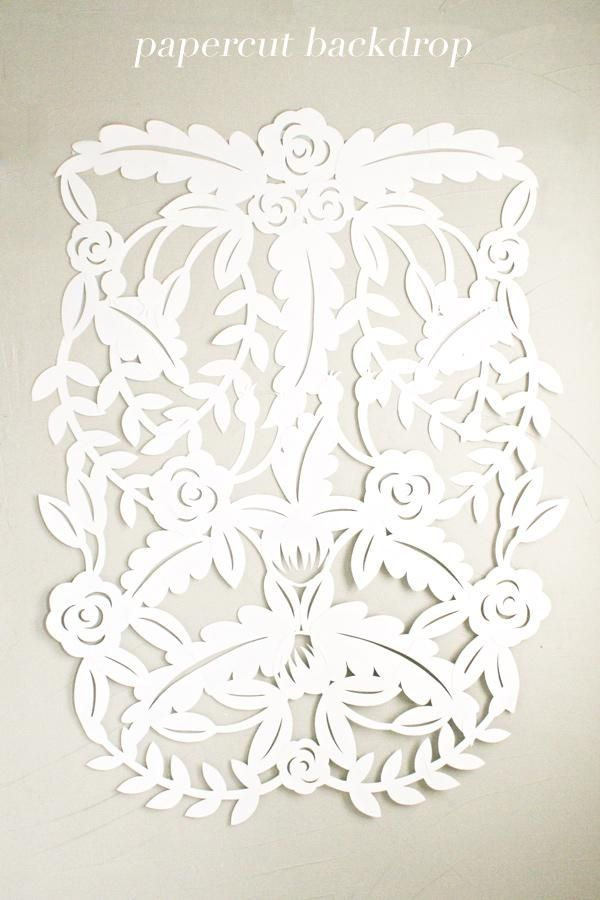 diy | papercut leaves backdrop tutorial | via: ruffled