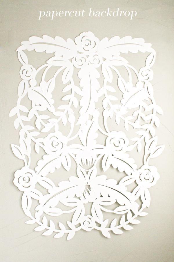 diy   papercut leaves backdrop tutorial   via: ruffled