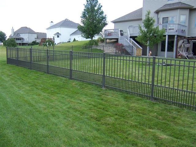 This aluminum fence features a puppy picket. Prevent pets from digging under fences and getting loose with this added layer of security!