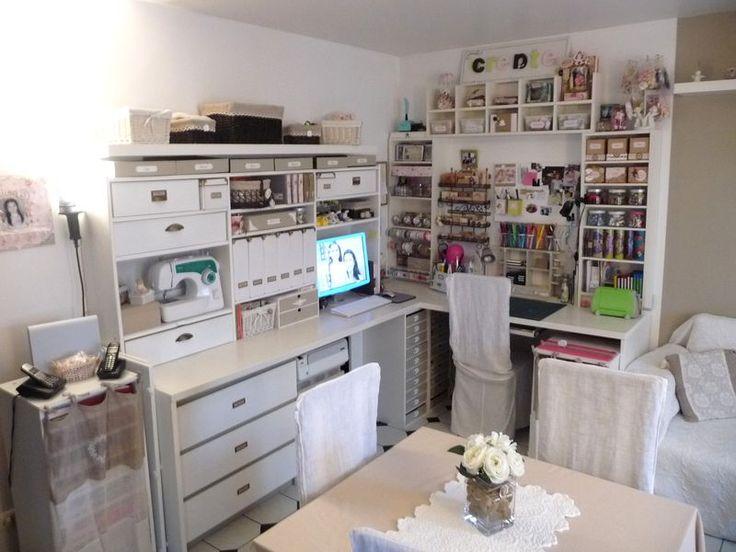 les 43 meilleures images propos de scraproom de reve sur pinterest espace de cr ation seaux. Black Bedroom Furniture Sets. Home Design Ideas