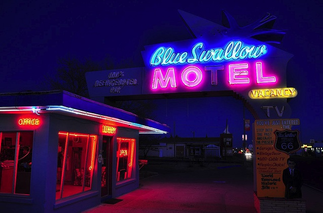Blue Swallow Motel, Route 66, New Mexico by Larry1732 on Flickr