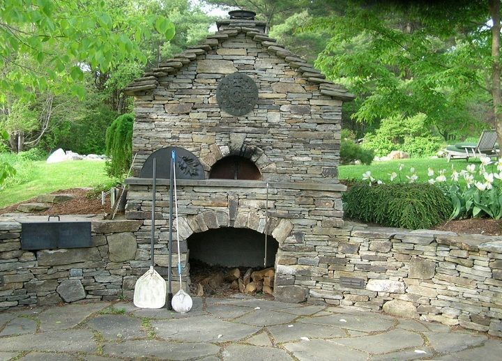 Outdoor brick oven in the backyard so I can make amazing pizza while sitting around the circular fire pit (not shown)