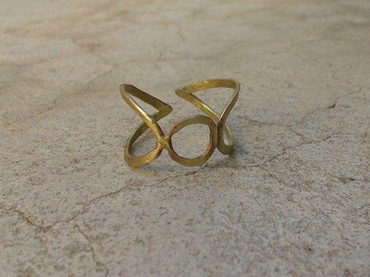 handmade ring/ bronze/ so chic/ jewel/ woman's style/ K.ompo.S- Handmade Jewel