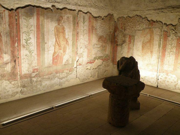 Müzede tüm mozaikler tablo gibi.