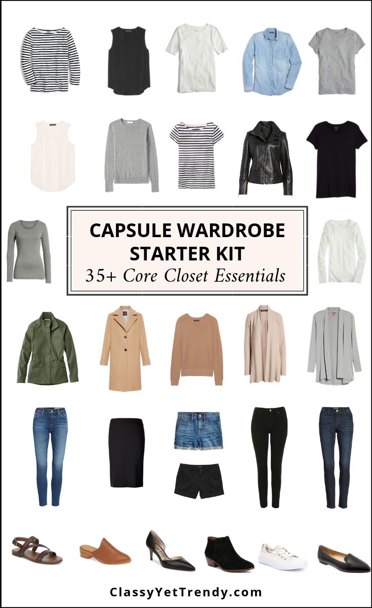 Capsule Wardrobe Starter Kit – 35+ Core Closet Essentials – The Ultimate Visual …   – Tragbar! (Lehrerin/Dozentin)