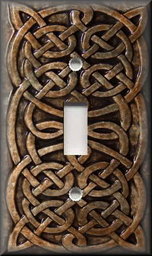 Details over Metal Light Switch Plate Cover – Home Decor bruin Keltische knoop Decor Brown