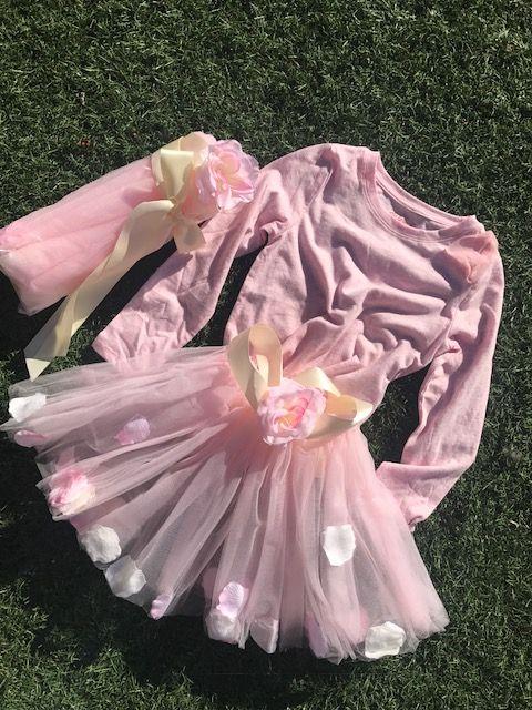https://kiwikidsfashion.com/products/sunset-pink-petal-pusher  Sunset Pink Petal Pusher Tutu