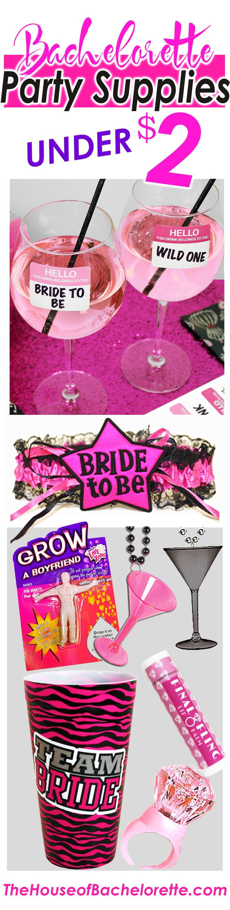 Bachelorette Party Favors, Bachelorette Decorations & more all under $2