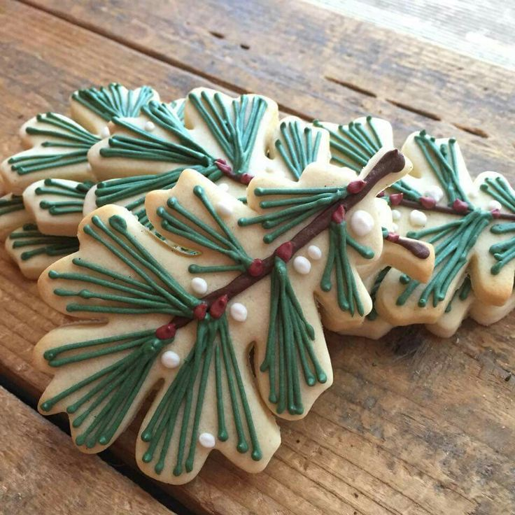 Spruce tree Christmas cookies