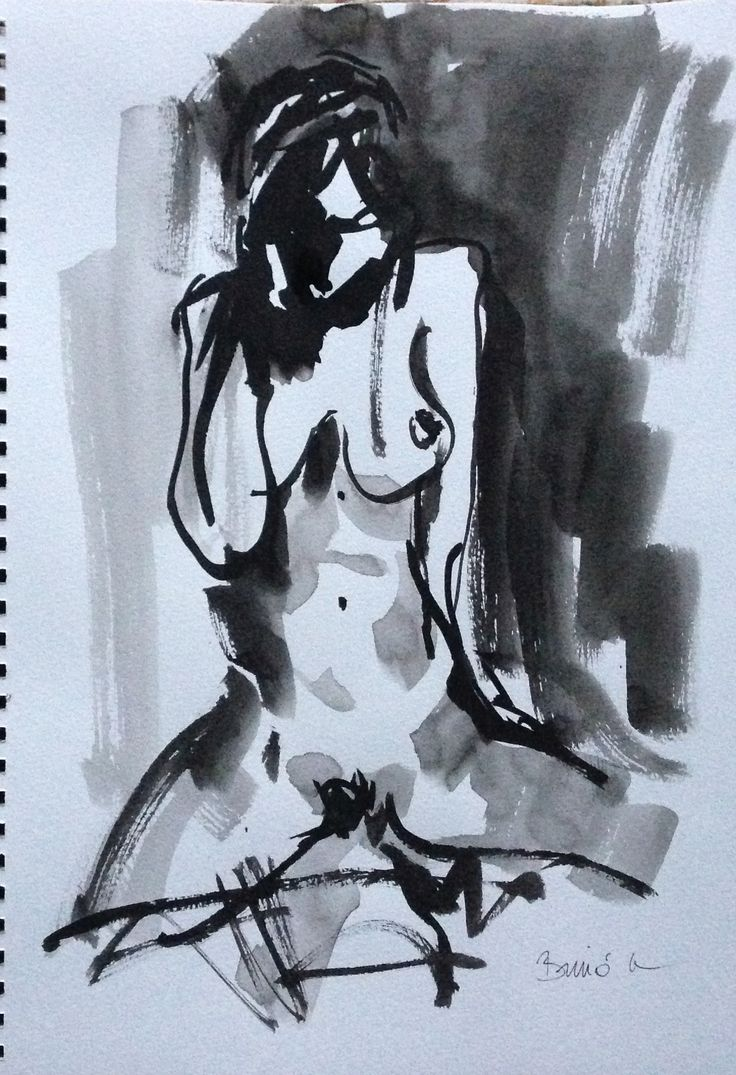 Konrad Biro ink painting