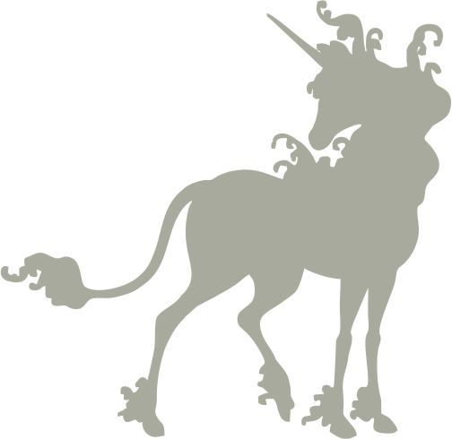 """The Last Unicorn Silhouette Custom Made Vinyl Decal Sticker for Cars and Laptops- 5"""" x 4.87"""" - 28 Color Options. $3.75, via Etsy."""