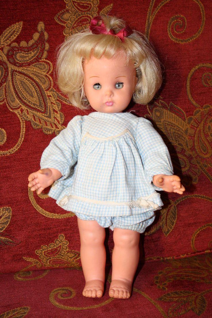 Bella piccola bambola Carolina Furga anni 60 32cm circa versione bionda