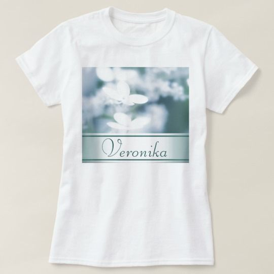 Beautiful white hydrangea blossoms. Add name. T-Shirt customized, personalized, photo, photography, zazzle, sale, discount, shopping, buy, deals, gifts, gift ideas, artwork, hydrangea, hortensia, nature, gentle, tender, summer, garden, flowerbed, flowers, two, pair, pretty, white, blossoms, macro, close up, beautiful, inflorescence, floral, design, girly, feminine, style, cyan, aquamarine #blossoms #flowers #white     #name #text