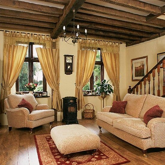 images about living room ideas on, country living room curtain ideas