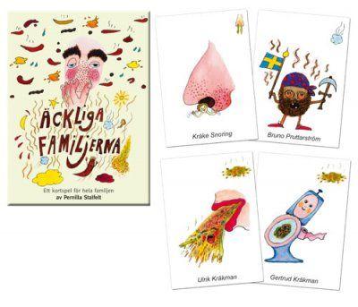 Äckliga+familjerna+kortspel+av+Pernilla+Stalfelt
