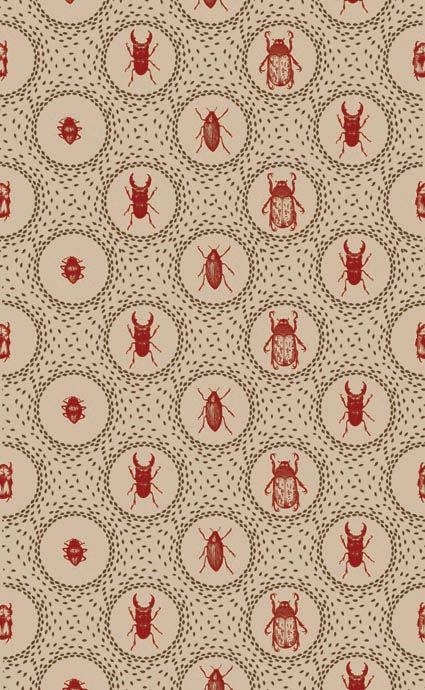 victorian curio wallpaper...with beetles and things!