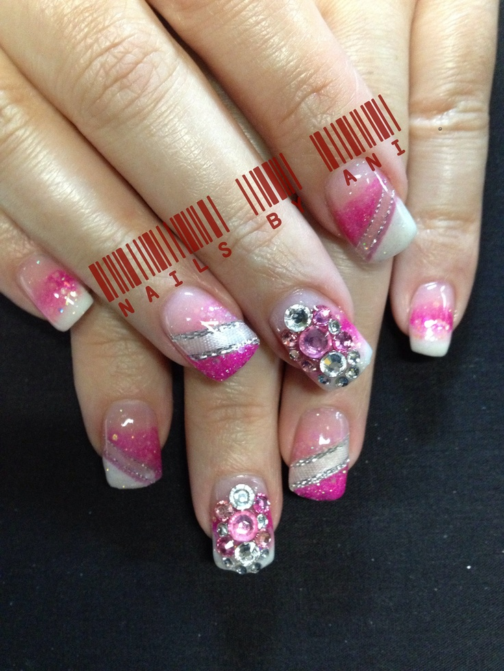 126 best acrylic nail designs images on pinterest nails design valentines nails acrylic nail designsacrylic prinsesfo Images