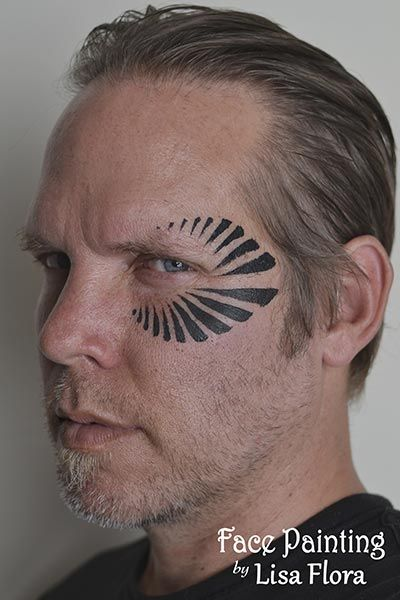 tribal adult face painting san francisco bay area face painters - Halloween Face Paint Ideas For Adults