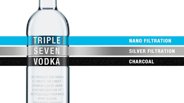 Triple siete: vodka calidad premium | El poder de las ideas