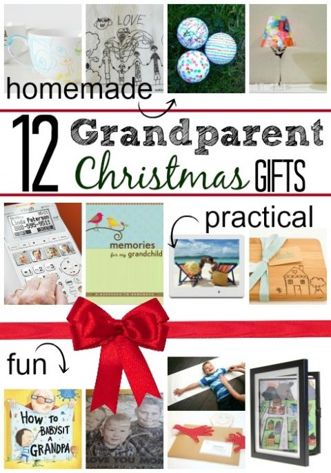 grandparent Christmas gifts - #4 is adorable!