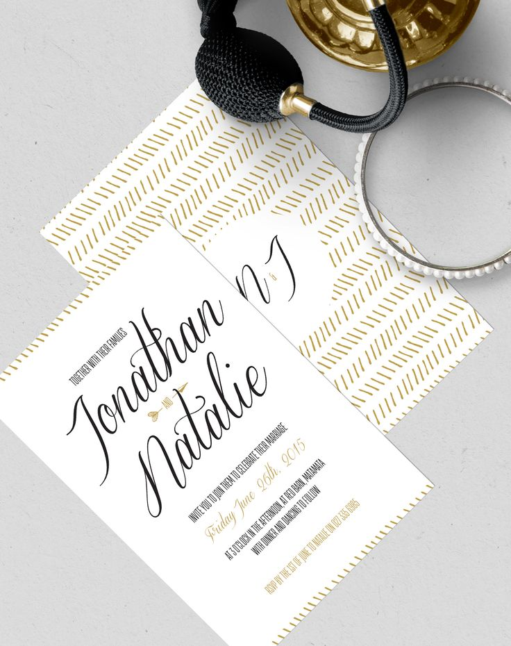 Great Gatsby Style Wedding Invites designed by Imagine If Creative Studios