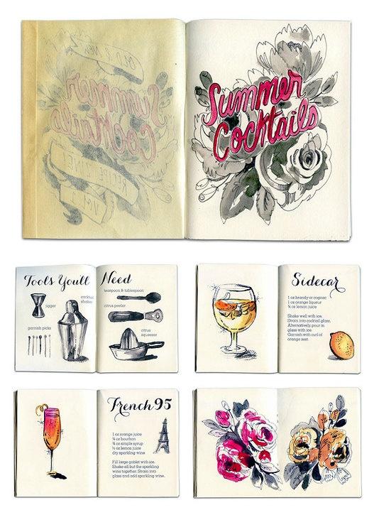 Summer Cocktail Recipe Art Zine  40 Pages Full par VIOLETTDRAKT, $15,00
