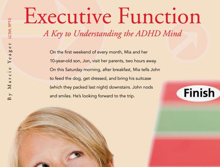 Executive Function: A Key to Understanding the ADHD Mind) from the June 2009 issue of Play Therapy magazine
