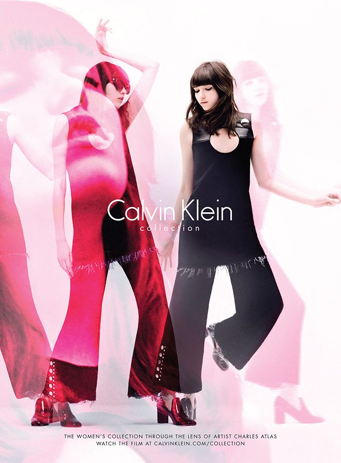 Calvin Klein Collection FW15 by artist Charles Atlas