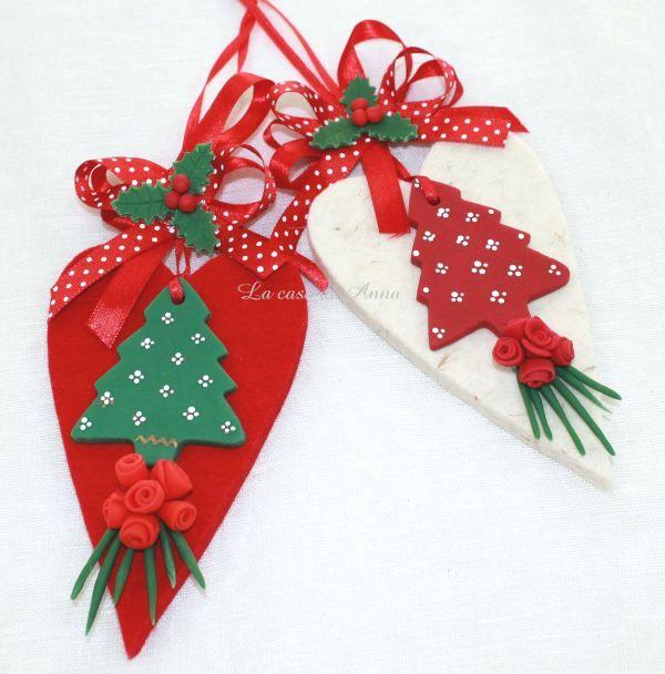 Di feltro e porcellana fredda le decorazioni per l'albero Natale 2013