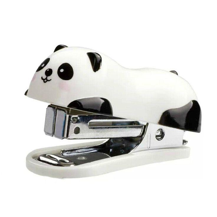 Adorable Mini Panda Agrafeuse de bureau-Agrafeuse pour agrafes &main de bureau Home Agrafeuse (6 x 2,5 cm: Amazon.fr: Fournitures de bureau