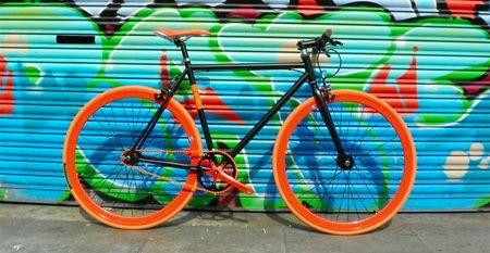 Santa Fixie. Bicicleta NoLogo Bike Black Orange.