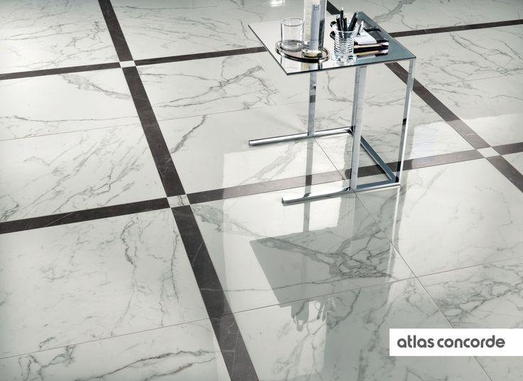 #MARVEL calacatta and grey   #Floor design   #AtlasConcorde   #Tiles   #Ceramic   #PorcelainTiles