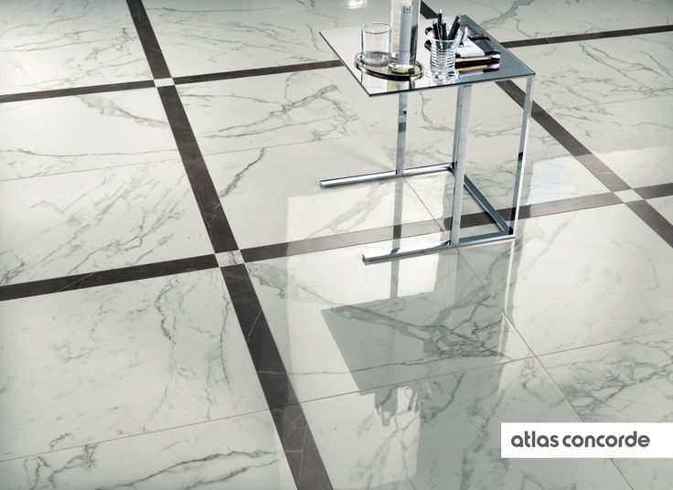 #MARVEL calacatta and grey | #Floor design | #AtlasConcorde | #Tiles | #Ceramic | #PorcelainTiles