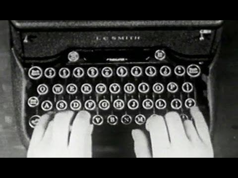 """Typewriter Training: """"Basic Typing I: Methods"""" 1944 US Navy Training Film: http://youtu.be/FCpZ3CP7IAs #typing #training #typewriting"""