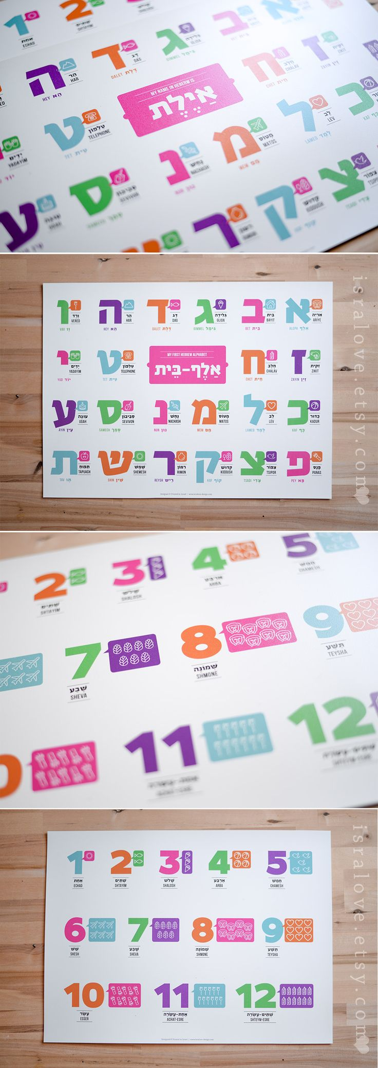 Learn hebrew alphabet kids game