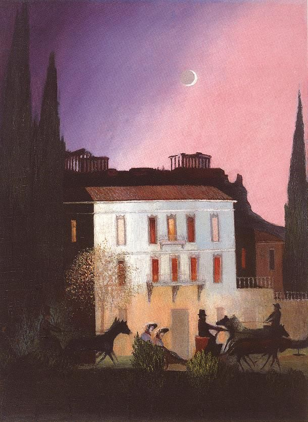 Csontváry Kosztka Tivadar - Coaching in Athens at New Moon 1904