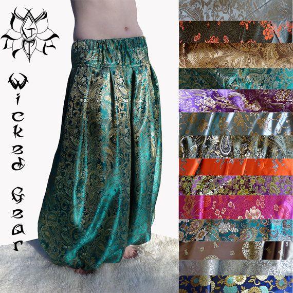 Votre couleur choix trois yard brocart ajustement personnalisé baladi pantalon Sarouel pantalons danse tribale pantalons pantalon ATS bloomers votre taille