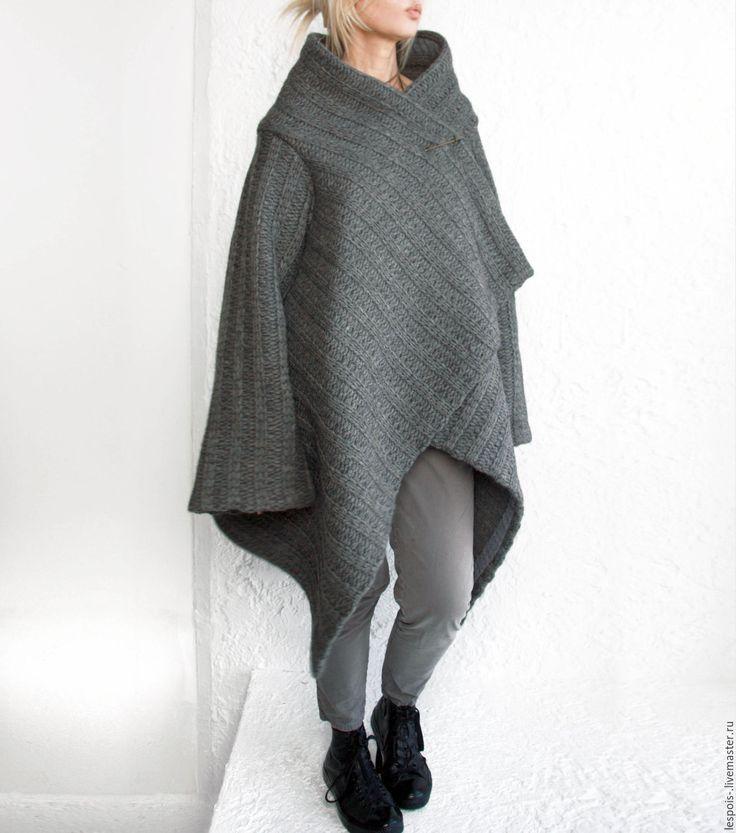 Купить Пальто - серый, пальто, пальто из шерсти, Пальто ручной работы, заказать, геометрический, геометрия