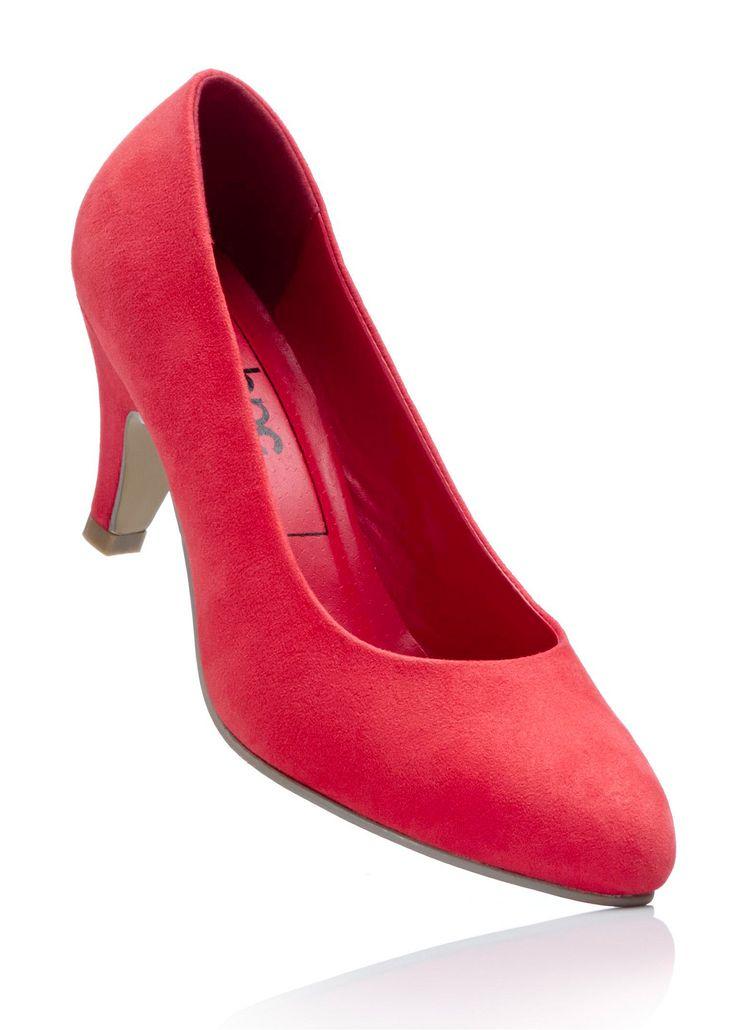 Bekijk nu:Eenvoudig, modieus en vrouwelijk.  Deze pumps van zacht imitatiesuède mogen in geen kledingkast ontbreken. Heerlijk lichte schoenen met een hoog draagcomfort. De trechterhak verlengt de benen en zorgt voor een op en top vrouwelijke loop. Het eenvoudige ontwerp voegt zich naar iedere outfit. Geschikt voor kantoor en voor uitgaan.