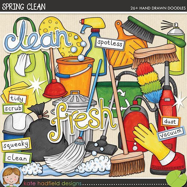 Spring Clean doodles by Kate Hadfield #katehadfielddesigns