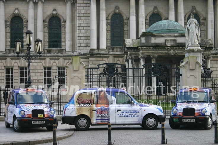 Coors #taxi - SUPER livery!  http://www.londontaxiadvertising.com/taxi-advertising-formats/super-livery/