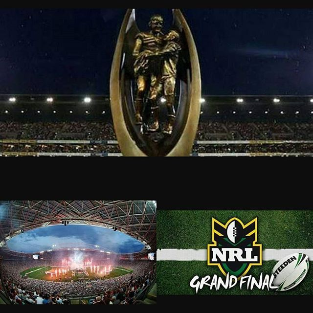 It is NRL - National Rugby League Grand final Day Will it be Storm or Cowboys? I will be at the game. #NRLFinals #nrlstorm #sports #nrl #rugbyleague #statevstate #nrlgrandfinal #sunday #sundayarvo @storm #cheering #watching #barracking #melbournestorm #melbstormrlc #purplepride #gostorm #bringthethunder #nrlfinals @nrl @melbstormrlc #grandfinal