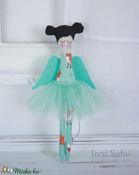 Turquoise Angel, Fox design textile