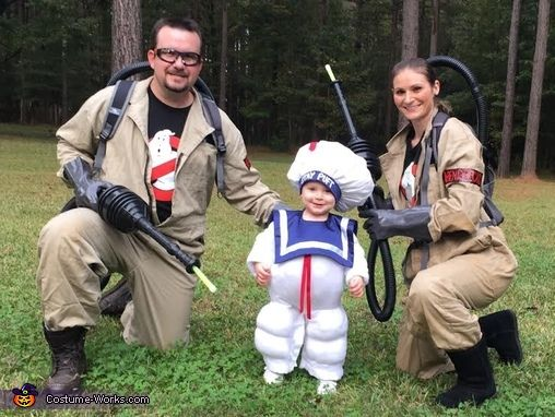 Ghostbusters and the Stay Puft Marshmallow Man - 2015 Halloween Costume Contest via @costume_works