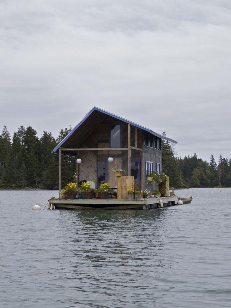 Impressive floating cabin