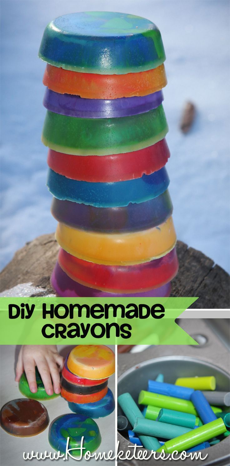 DIY Homemade Crayons for Toddlers