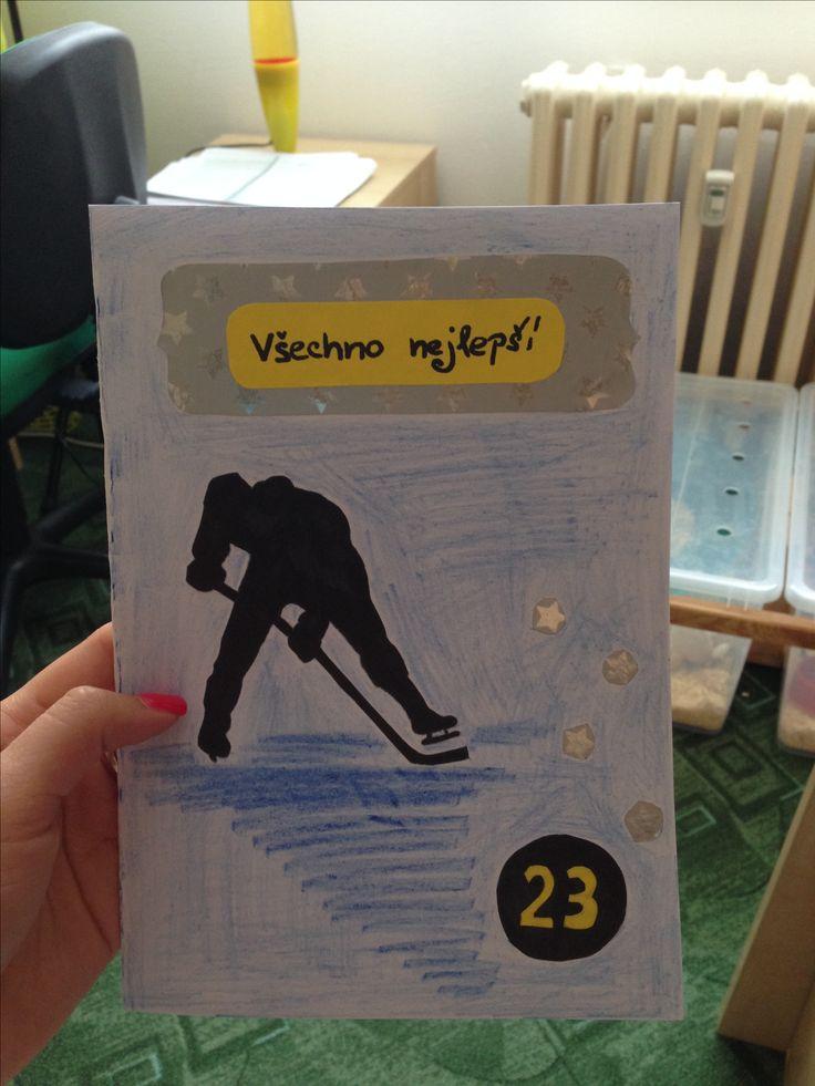 Ice hockey B-Day card