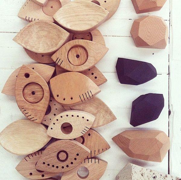 DAILY IMPRINT | Interviews on creative living  woodcraft gemstones eyes  designer Felix Allen image courtesy of Felix Allen