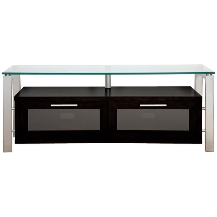 Plateau Decor 50 Inch TV Stand in Black and Silver - DECOR 50 (B)-S